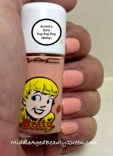 Mac Archie\'s girls nail polish review Betty | Middle Aged Beauty Queen