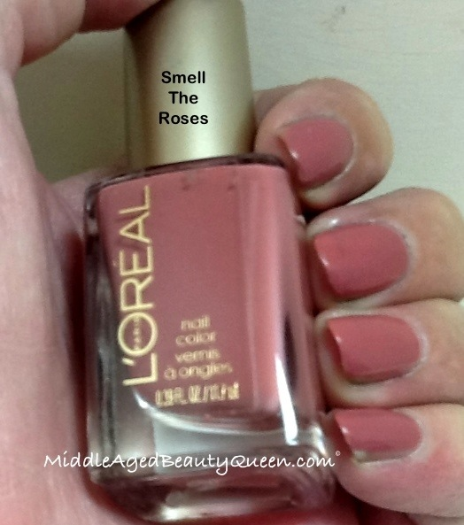 L\'Oreal smell the roses nail polish review and swatches | Middle ...
